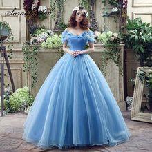872a99fe84 Cendrillon série bleu princesse robes de mariée avec Appliques papillon  2018 Vantage robe de bal château robe de mariée SQS037