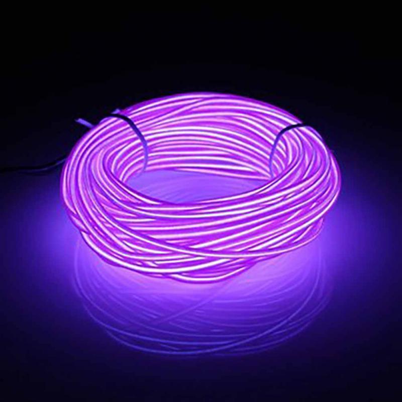 10M Led Flexible Soft Tube Wire Neon Glow Car Rope Strip Light Xmas Decor 20-220V 10m 20m el led flexible soft tube wire neon glow car rope strip light xmas decor ac 12v christmas home decoration