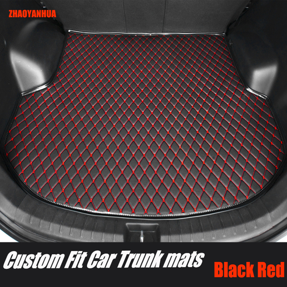 ZHAOYANHUA Foot Case Car Trunk Mats For BMW 3 Series E90 E91 E92 E93 318d 320d 320i 325i 328i 325D 330d 335D 330i 335i Rugs Line