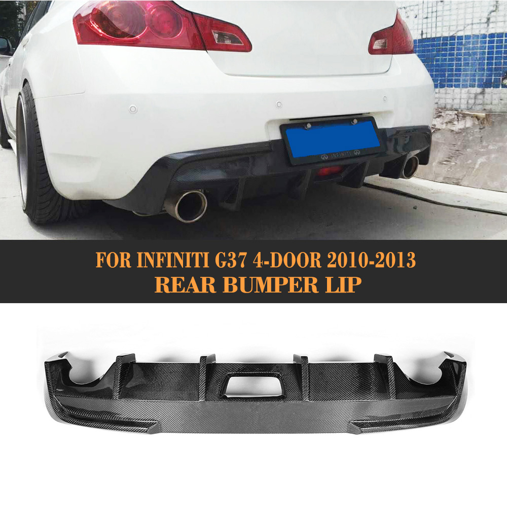 carbon fiber JC style car carbon rear diffuser for infiniti G37 G37S 4 door base sedan Sport 2009 - 2013 not fit USA market