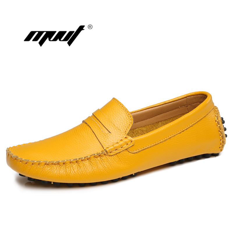 New color 100% genuine leather men flats shoes soft comfortable Leather Moccasins men Loafers Driving Leather Men's Shoes cyabmoz 2017 flats new arrival brand casual shoes men genuine leather loafers shoes comfortable handmade moccasins shoes oxfords