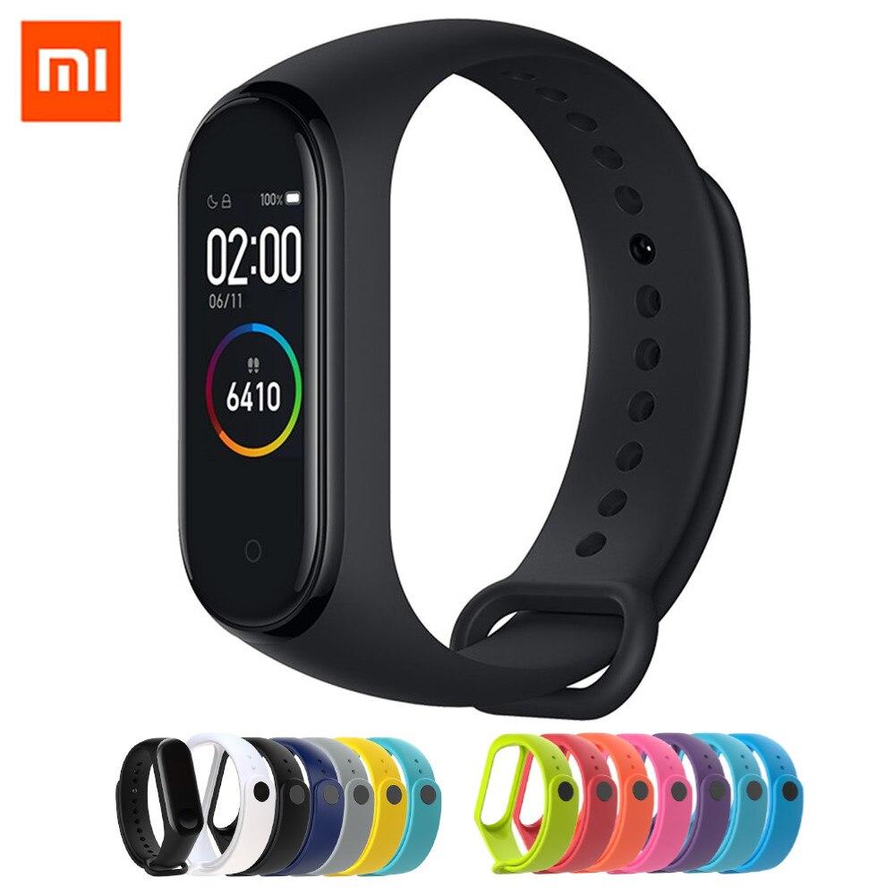 Original Xiao mi bande 4 Smart couleur écran Bracelet fréquence cardiaque Fitness 135mAh bluetooth 50M natation mi ng imperméable CN Version