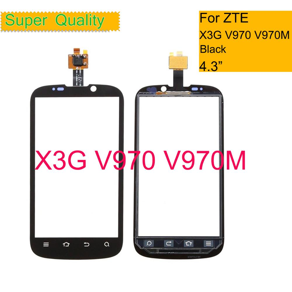Original For <font><b>ZTE</b></font> X3G V970 <font><b>V970M</b></font> Front Glass Sensor Touch Panel V970 Touch Screen Digitizer Touchscreen Lens Replacement image