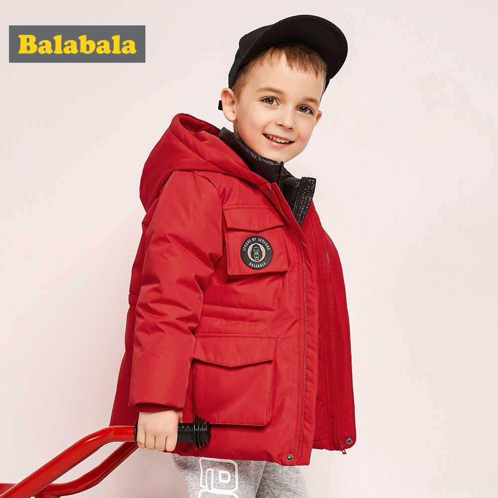 Balabala الشتاء سترة الصبي طفل الإضاءة بطة أسفل معطف الأطفال مقنعين الدافئة طفل فتاة سترة 2018 الربيع أبلى العمر 2-6Y