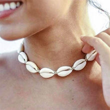 Bohemian New Fashion Women Rope Chain Natural Seashell Choker Necklace Collar Necklaces Shell Chokers for Girl Gift Boho Jewelry