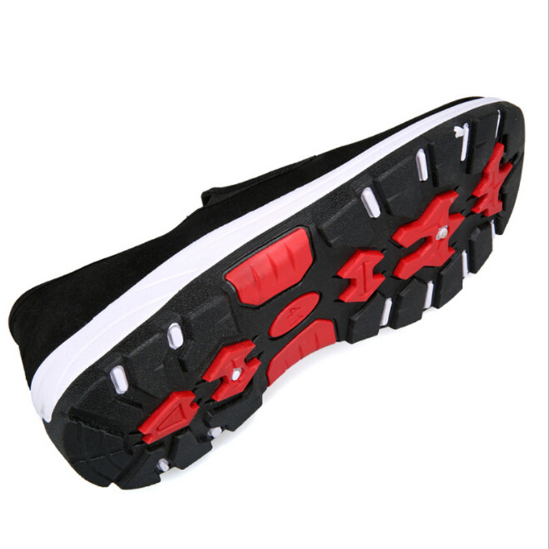 Deslizamiento Fibra 1 Hombres Mocasines Casuales Par Negro Vulcanizados Respirable Paño Zapatos En OwqWSqH8