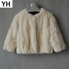 Autumn Winter Women Real Rex Rabbit Fur Coat Ladies Casual Real Rex Rabbit Fur Jacket Warm Soft Quality Rex Rabbit Fur Overcoat cheap Real Fur O-Neck Nine Quarter Solid REGULAR Short Double-faced Fur YH-7081 Single Breasted Thick (Winter) Natural Color