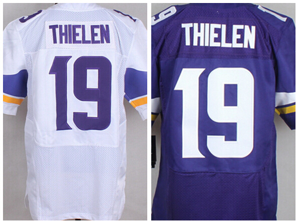 buy popular d991e 03ad1 NEW Draft Jersey #19 Adam Thielen Men Elite Football Jersey ...