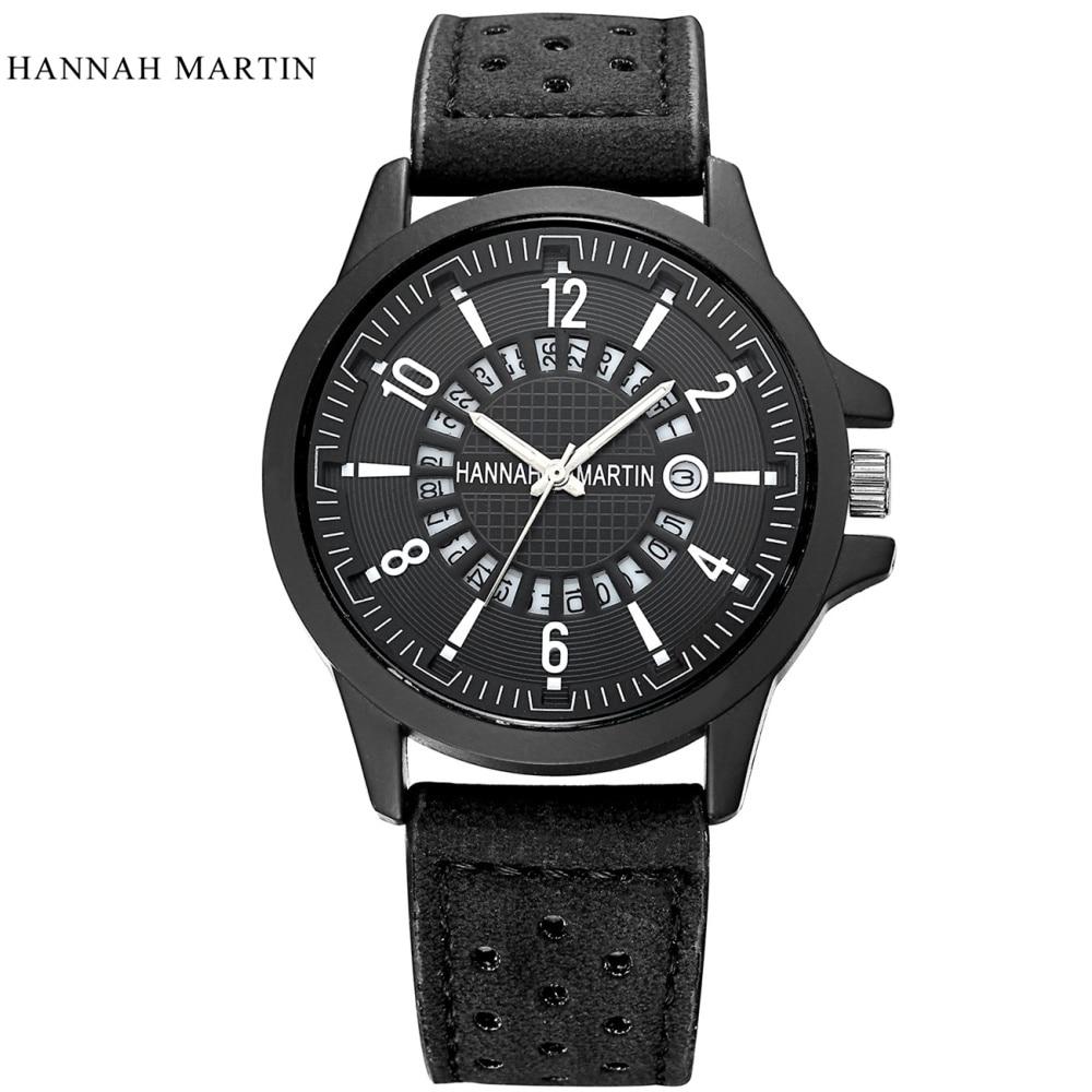 2018 часы Hannah Martin мужские роскошные - Мужские часы