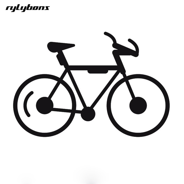 Rylybons 1 Pcs 14 5 10cm Car Styling Stickers Bicycle Car Sticker