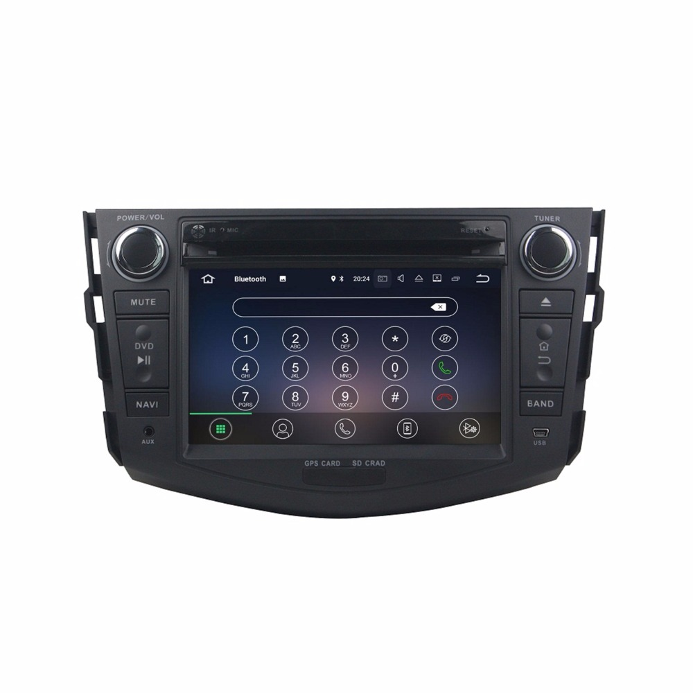 Clearance Octa Core 7 inch 8 core Android 9.0 Car Radio DVD player GPS for for Toyota RAV4 2006-2012  gps 4G RAM 64G ROM stereo auto audio 2