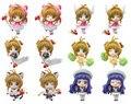 Anime Cardcaptor Sakura Mini figuras Kinomoto Sakura Daidouji Tomoyo PVC figuras de acción juguetes 6 unids/set