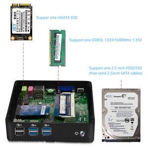 Image 5 - OLOEY ファンレスミニ Pc インテルペンティアム 3805U Windows 10 8 ギガバイトの RAM 120 ギガバイト SSD 300 150mbps の無線 Lan ギガビットイーサネット HDMI VGA 6 * USB ネットトップ