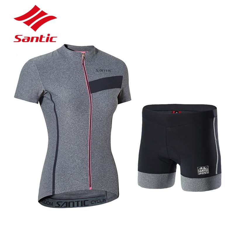 Santic Cycling Jersey Set 2018 Women Summer Breathable Cycling Clothing Pro Bike Bicycle Clothes Suit Ropa Ciclismo santic cycling jersey set 2018 women summer breathable road mtb bike jersey quick dry bicycle clothes suit ropa mallot ciclismo
