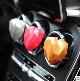 Geometry Loving Heart Aromatherapy Clip Expansion Incense Stone Auto Air Vent Freshener Car Accessories Car Air Fragrance HA156