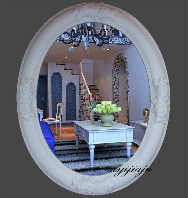 Grande grande decorativo cosmético antiguo ovalado espejo de pared ...