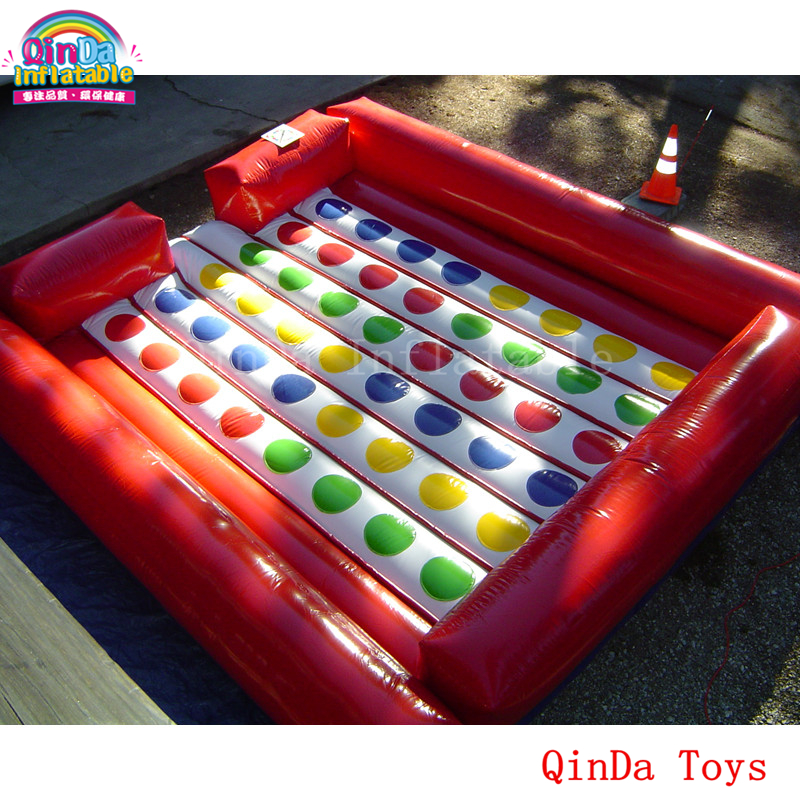 5*5m giant commercial rental twister game inflatable twister mat for kids and adult 5 5m inflatable twister funny games 0 5mm pvc inflatable twister mattress with free air blower