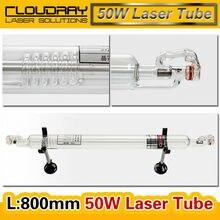 Cloudray Co2 стекле трубки 800 мм 45-50 Вт стекло лазерная лампа для CO2 лазерной гравировки, резки