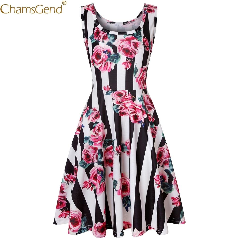 formal dress women elegant dresses woman party night dress elegant high quality materials  Sleeveless Floral Print Summer Feb28