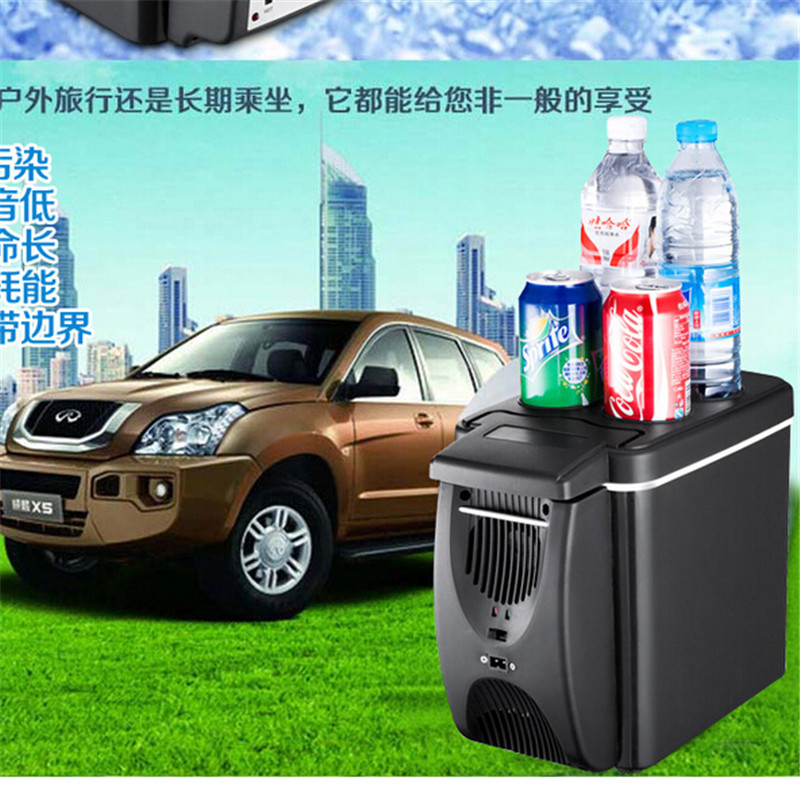 Auto Mini Car home small refrigerator 6L portable heating and cooling box car fridge with compressorsmall refrigerator 7 5l small fridge household refrigeration refrigerator car dual heating and cooling box home mini