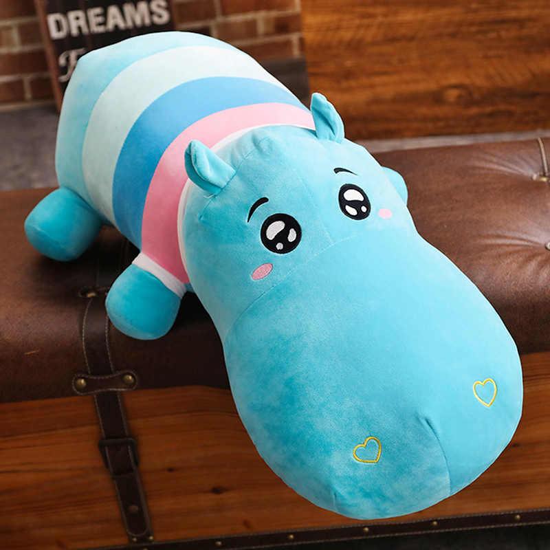 Karikatür Hayvan Peluş Yastık Oyuncak Yumuşak Bebek uyku yastığı Doldurulmuş Hayvan Gergedan Timsah Hippo Oyuncaklar kanepe yastığı Kız Hediye