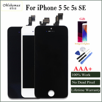Mobymax AAA Phone LCD Screen For IPhone 5 5s 5c SE Touch Glass Display Complete Replacement