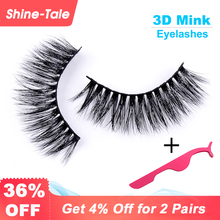 Shine-Tale Natural Mink Hair False Eyelashes Reusable 3D Handmade False Eyelashes Lash Extension Set for Natural Look A06 Cilia