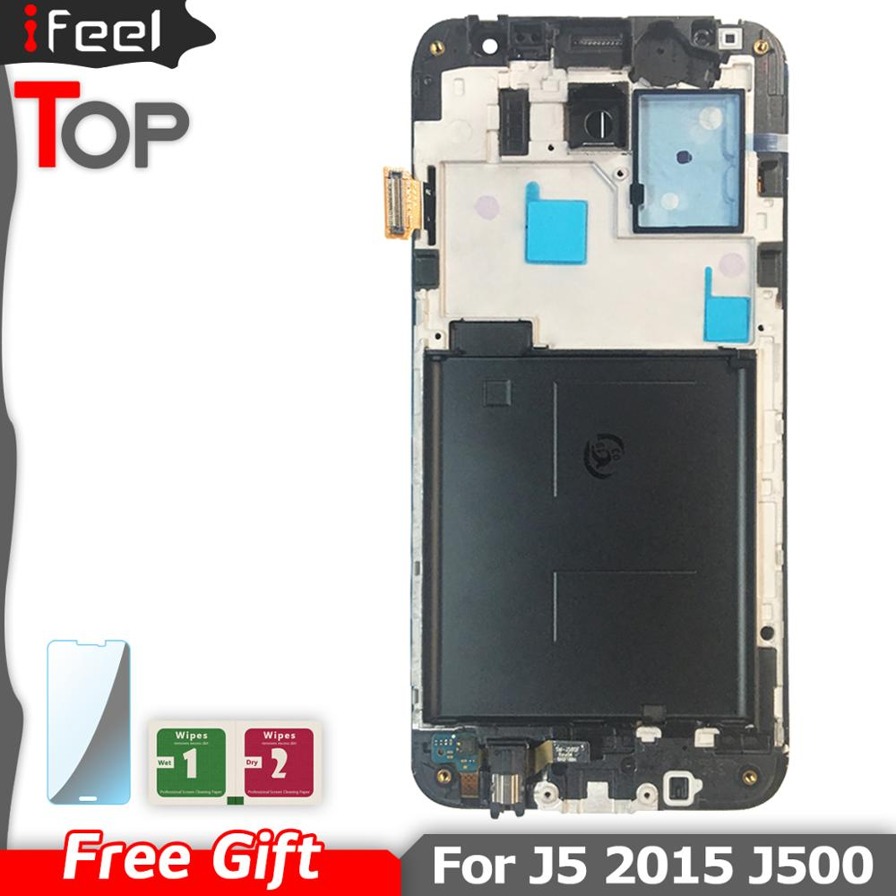 Für Samsung J5 2015 <font><b>J500</b></font> J500F J500FN J5008 <font><b>LCD</b></font> Display mit Touch Screen Digitizer Frame Assembly Reparatur <font><b>J500</b></font> <font><b>LCD</b></font> image