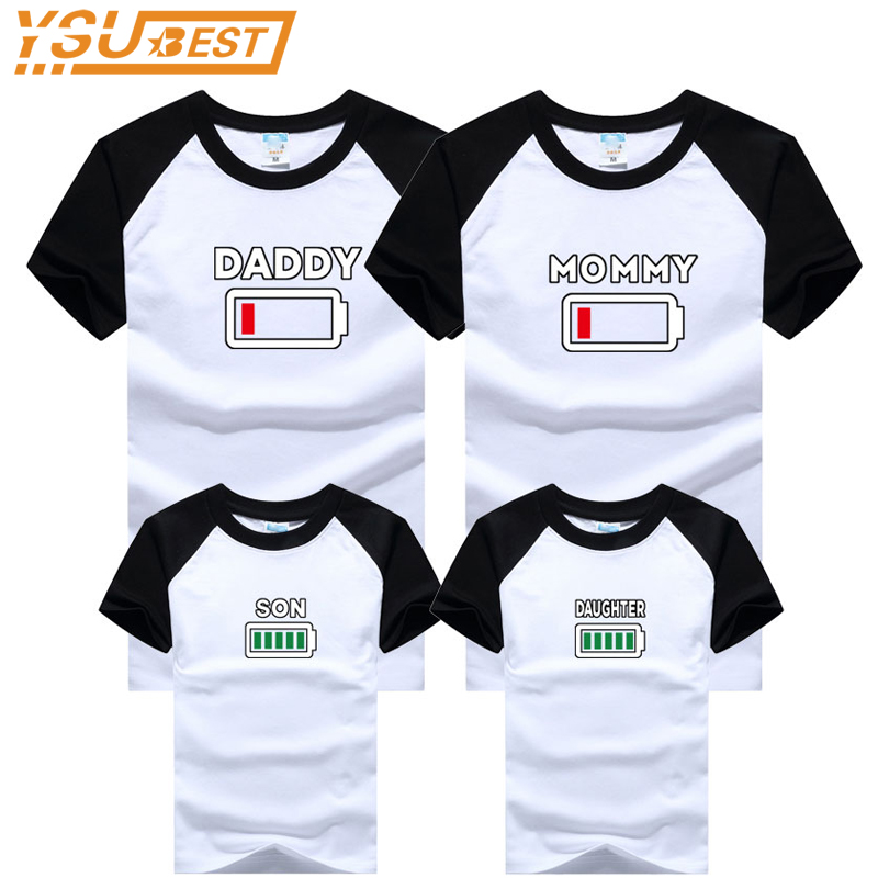 все цены на 2018 Family Matching Outfits Father Mother and Daughter Son Clothes Look Cotton Daddy T shirt Mom Mum Mommy and Me Baby Children