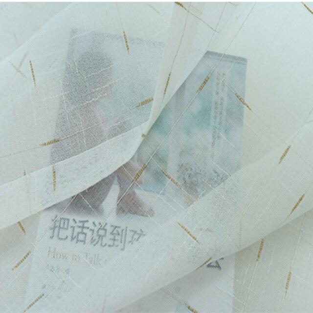 Personalizzare Solido Bianco di Lino Voile Pannello Pura per Finestra Moderna Del Tutto-fiammifero Tulle per la Cucina soggiorno Tessile AP038-40