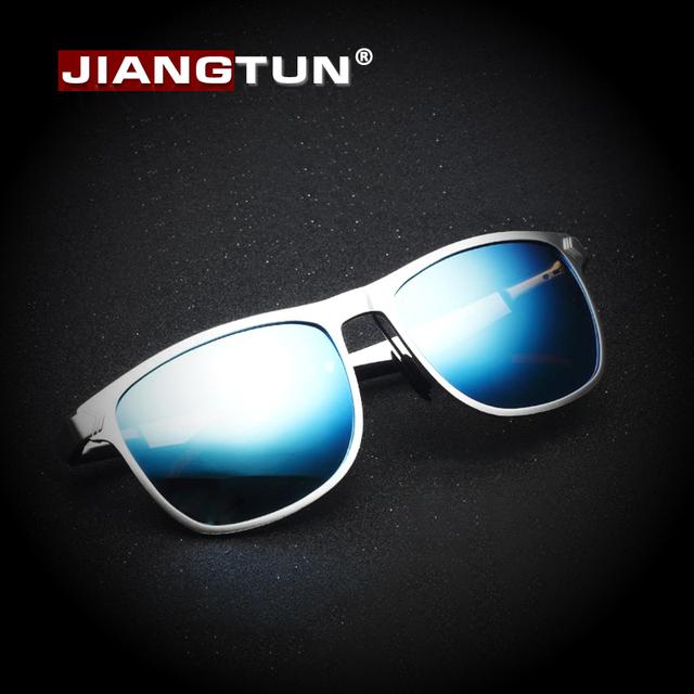 JIANGTUN Алюминиевый Магний Рамка Горячая Покрытие Зеркало Солнцезащитные Очки Поляризованные Мужчины HD Óculos Мужчины Бренд Дизайнер Вождения Gafas