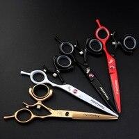 Freelander Color Paint 6.0 inch hairdressing scissors Flat shears Dental scissors 720 degrees Rotary handle Multi color optional