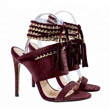 BeneModa python leather ladies high heel fashion sexy luxury women sandal super high genuine leather shoes