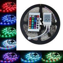 Светодиодный светильник 3528 2835 RGB 5 м 300SMD led полоса 24key SMD ИК пульт дистанционного управления, или белый синий красный зеленый Fita De