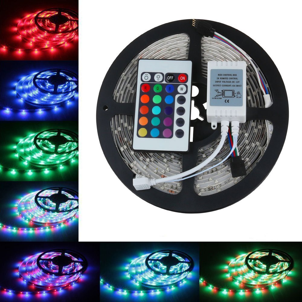 led wholesaler 3528 2835 rgb led strip light 5m 300smd led. Black Bedroom Furniture Sets. Home Design Ideas