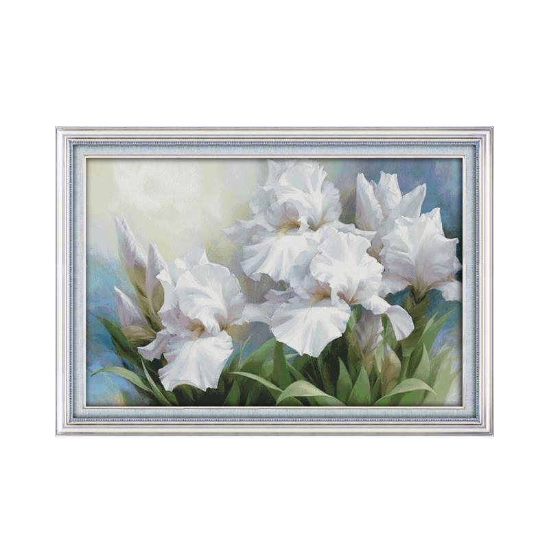 11CT 14CT Iris flower Large living room Decoration Grid Embroidery Needlework Cross stitch Manual Beautiful flowers