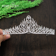 New Arrival Magnificent Crystal Bridal Tiaras Rhinestone Wedding diadem for Bride headwear Hair Jewelry accessories