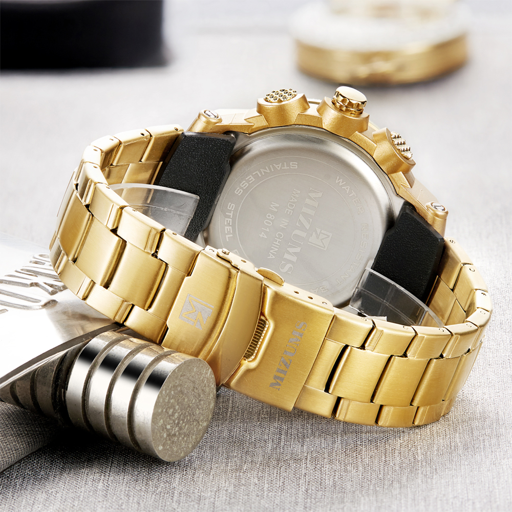 Image 5 - Top Luxury Brand MIZUMS Men Military Waterproof Digital Sport Watches Mens Clock Male Wrist Quartz Watch Relogio Masculino XFCS-in Quartz Watches from Watches
