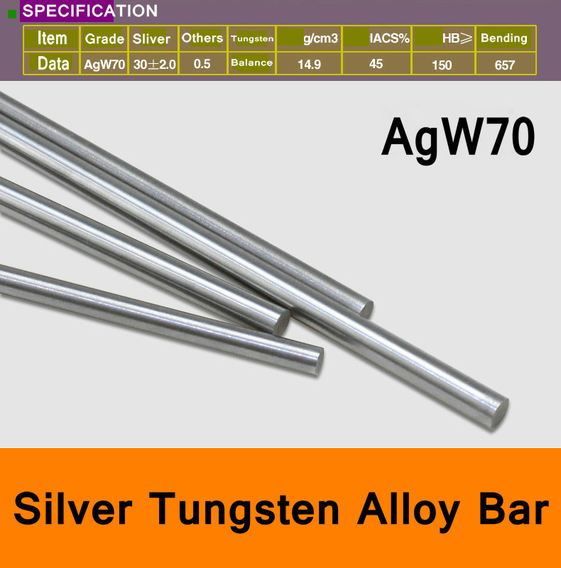 AGW70 Ag-W Sliver Tungsten Alloy Bar Round Spot Welding Electrode Mould CNC Material Well Know Brand KWKSTEELAGW70 Ag-W Sliver Tungsten Alloy Bar Round Spot Welding Electrode Mould CNC Material Well Know Brand KWKSTEEL