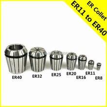 цена на ER Collet Chuck Holder ER11 ER16 ER20 8mm adapter clamp Drill chuck cnc router bits tools wood pcb ball nose 3.175 1pcs