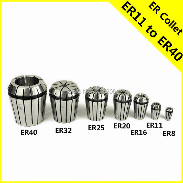ER Collet Chuck Holder ER11 ER16 ER20 8mm adapter clamp Drill chuck cnc router bits tools wood pcb ball nose 3.175 1pcs