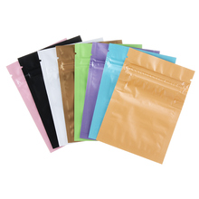 10Pcs/Pack Colorful 7.5*10cm Heat Seal Aluminum Foil Bags Flat Retail Package Bag Plastic Foil Zip Bags