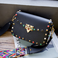 Ruocco 2017 Luxury Women Bags Designer Crossbody Bags For Woman Colorful Rivet Fashion Shoulder Bags Brand