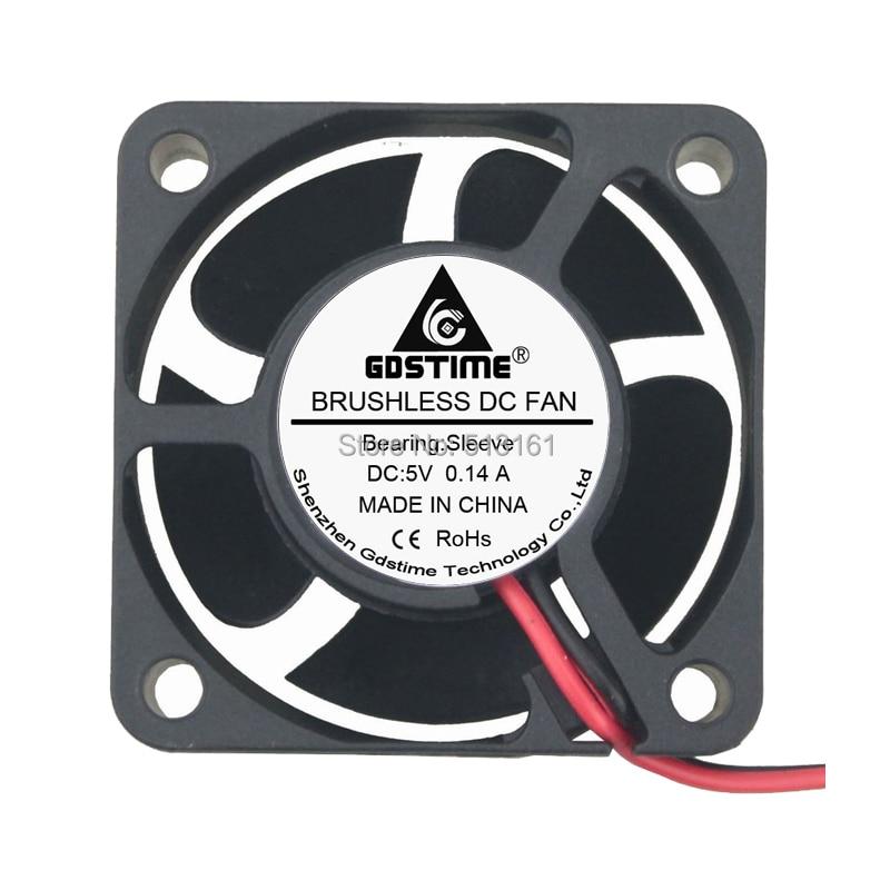 GDStime Brushless PC Cooling Fan Sleeve Bearing 40mm X 10mm 2pin 5v DC 0.14 amp