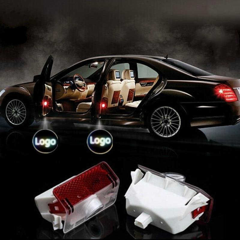 2Pcs Car LED Laser Logo Light Door Welcome Ghost Shadow Projector Lights For Mercedes Benz x204 GLK W169 W168 W245 GLK260 300 2 x newest led car door light ghost shadow light welcome laser projector logo for fiat panda doblo ducato bravo stilo 500 punto