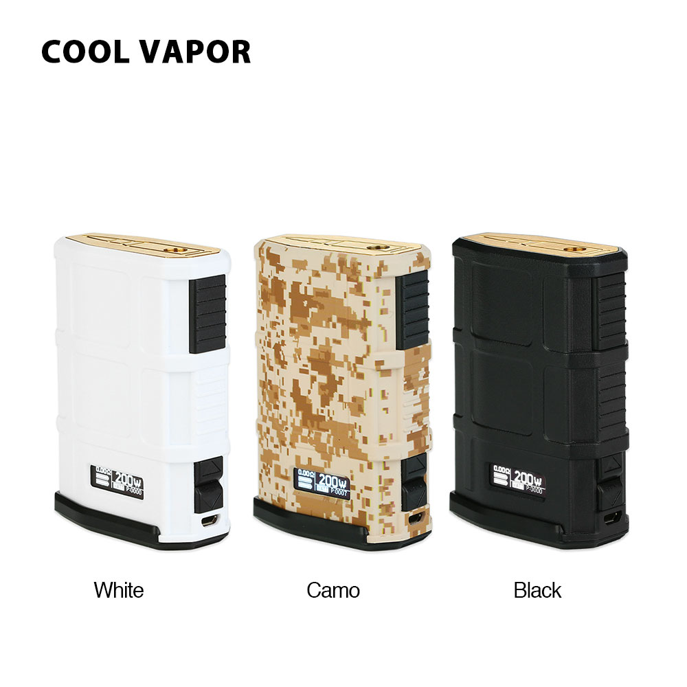 Original CoolVapor MADPUL 200W VW Box MOD with 0 08s Quick Firing Speed No 18650 Battery