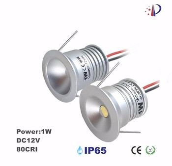 1W Mini Led Downlight, DC12V DIY Lighting, 25mm Cutout Under Cabinet Case Lamp, 60D/120D Bam Angle Spotlight 15pcs CE List