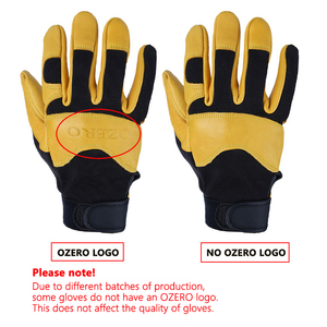Image 5 - OZERO Deerskin Men Work Driver Gloves Leather Security Protection Wear Safety Workers Working Racing Garage Gloves For Men  8003
