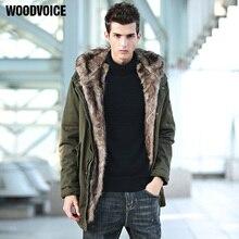Coats Men Detachable Fur Hooded Warm Men Jackets Winter Jacket Men Plus Velvet Thick Outwears Parka Fleece Windproof Coat Male