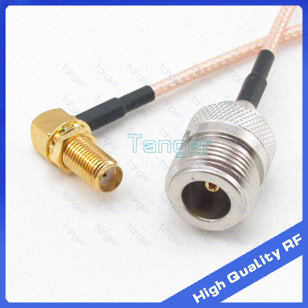 2015 NEW 3feet RF Pigtail SMA female right angle to N-type female Jack 40inch 100cm RG316 RG-316 Coaxial Jumper LOW Loss cable adapter sma plug male to 2 sma jack female t type rf connector triple 1m2f brass gold plating vc657 p0 5